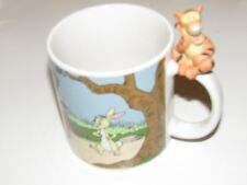 Disney Store Ceramic Winnie The Pooh and friends Mug 3D figure Tigger on handle