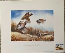1982 Quail Conservation Stamp Print by Allen Hughes - Limited Edition
