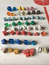 Dungeons and Dragons Dice + Unknowns Lot of 56 See Description & Photos!