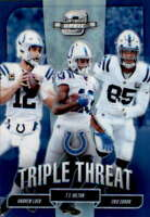 2018 Contenders Optic Triple Threat #17 ANDREW LUCK/ERIC EBRON/T.Y. HILTON /175