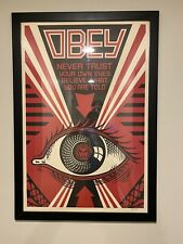 Shepard Fairey 2011 Lithograph Signed Eye Print Obey Giant 24 x 36 inchPoster
