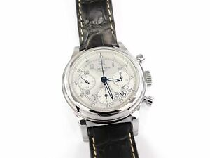 Longines Heritage 1951 Silver Automatic Chronograph L2.745.4.73.2 Box & Papers