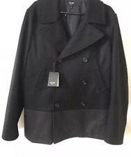 JACK SPADE Navy/Gray Peacoat - Wool Cashmere Blend, Med. NWT $598 - Stunning!