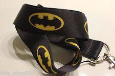 DC comics BATMAN Lanyard Neck Strap Keychain ID Badge Holder Black dark Knight