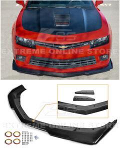 For 14-15 Camaro SS   6Gen. ZL1 1LE Style CARBON FIBER Front Bumper Lip Splitter