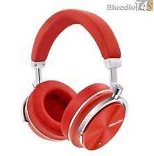 Bluedio T4S Bluetooth 4.2 Cordless Headphones Stereo ANC Wireless Headset, Red