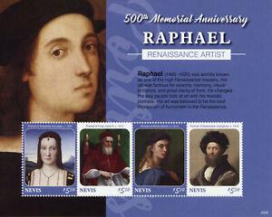 Nevis Art Stamps 2020 MNH Raphael Pope Julius II Renaissance Paintings 4v M/S