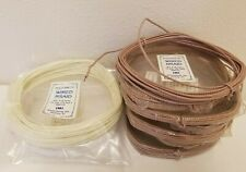 Lot of Vtg 4mm Steel Wired Braid Braided Macrame Craft Cord Tan, White, & Ivory
