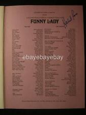 Herbert Ross Funny Lady Autographed Signed Theatre Program OS97