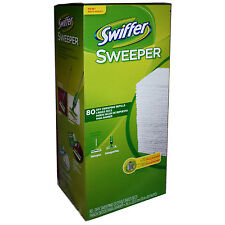 NIB SWIFFER SWEEPER DRY CLOTH REFILLS BIGGER 80 COUNT BOX