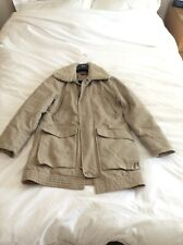 Levis Red Tab Beige Mens Large Parka Coat With Detachable Fur Collar