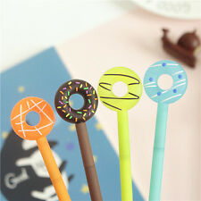 5Pcs Cute Cartoon Doughnuts Lovely Gel pen Candy Color Students Kids Pens Gifts