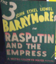 Movie Poster RASPUTIN Entire Barrymore Family Ethel John and Lionel Barrymore