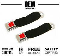 (2 - Pack) Seat Belt Extender / Extension for 1975 - 1988 Mercury Cougar