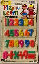 Vtg JaRu Play To Learn Number Set Learning Toy Or Cake Decorating Decoration Nos