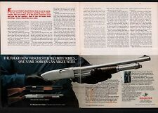 1982 WINCHESTER Stainless Police, Defender & Marine Shotgun 2-page AD