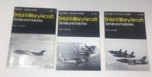 3 x British Military Aircraft Serials and Histories by Paul Jackson Vol1, 2, & 3