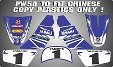 pw50 Non Genuine plastics chinese copy decals graphics yamaha pw 50 BLUE 2