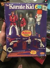 DANIEL LARUSSO & MR. MIYAGI 1986 REMCO 6 Piece Action FIGURE SET KARATE KID Rare
