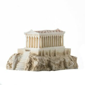 Parthenon Temple with Night lamp Temple of Goddess Athena Patina Alabaster