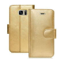 Gold (PU) Leather Folio Wallet Flip Cover Case for APPLE I PHONE 5,5S,5SE