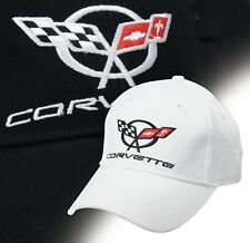 super popular 2233a c7136 C5 CORVETTE Embroidered Script and Logo Hat Choose Red, Black, or White  630880