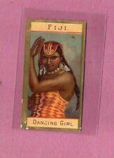 More details for cigarette card usa 1890 kinney international types fiji dancing girl cat£27 #450