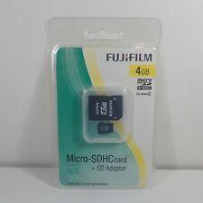 Fujifilm 4 GB MicroSDHC Card, High Quality C4 Incl. Adaptor NEW