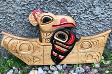 Estate - Unsigned Canadian Indian Squamish Salish Wood Carving of an Eagle Art