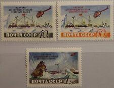 Russia Unione Sovietica 1955 1791-93 1765-67 North Pole drifting stazione Science MNH