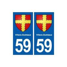 59 Villers-Outréaux blason autocollant plaque stickers ville droits