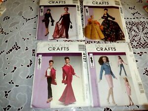 """McCall's Tyler Wentworth 16"""" Doll Clothes 3845, 3702, 4127, M4860, Uncut"""