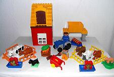 Lego Duplo~Bauernhof~Farm~Traktor~7 Tiere~Bauer~Bäuerin~Traktor~Haus~Silo