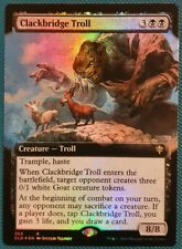 "Magic The Gathering ""Clackbridge Troll"" FOIL EXTENDED ART RARE [Eldraine] MTG"
