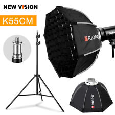 Triopo 55cm Portabe Bowens Mount Octagon Outdoor Softbox + Grid + 2m Light Stand
