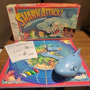 Vintage Shark Attack Board Game Milton Bradley 1988 Missing 1 Die