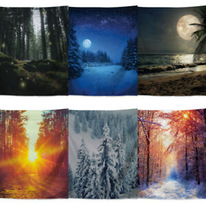 Forest Tree Landscape Tapestry Wall Hanging Background Cloth Blanket Home Decor