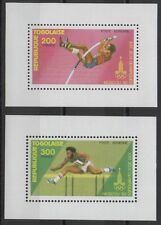 Togo 1980 Moscow Olympic Games SCARCE Mini-Blocks Mi. 1426A 1427A UNLISTED