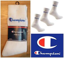 3 x Champion Logo Crew Socks SPORT SKATE BASKET VINTAGE OG DS Retrò UK 5 6 7 8