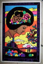 RARE VINTAGE 1978 WOMAN MEMORIES SUMMER LOVE VELVET BLACKLIGHT POSTER NEW !