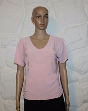 Pink JUST ELEGANT Stretch Slouch  Drawstring Side Casual Top Blouse Size 14 / 42