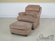 42921E: DISTINCTION LEATHER CO. Chair & Matching Ottoman