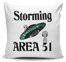 Storming Zone 51 Funny Alien UFO Nouveauté Housse de coussin