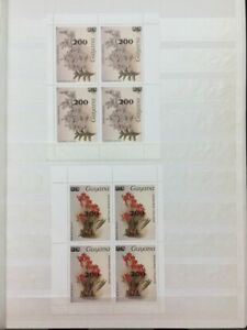 TCStamps 12X pages of Orchid Guyana MNHOG MINT ORCHID Postage Stamps  #273 4oz