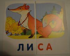 Set 48 pcs Russian УЧИМСЯ ЧИТАТЬ ИГРАЯ Educational flash cards kids reading NEW
