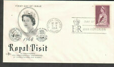 Canada 1964 Rose Craft cachet Fdc first day cover Queen Elizabeth Ii Royal visit
