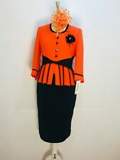Designer Ladies Wedding Church Executive Office Party Suit In Orange or pink