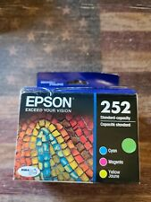 Epson 252 T252520-S DURABrite Ultra Ink Cartridge - TriColor New SEALED 04/2023