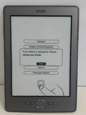Silver Amazon Kindle Model No D01100 E-Reader Book 5th Gen