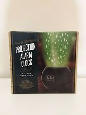 Wembley Sound Machine Color Changing Projection Alarm Clock